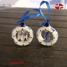 blue shoes and arovane shape outdoor decorations personalized blue ceramic christmas ornaments