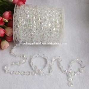 Acrylic Crystal Beads Garland Diamond Strand DIY Wedding Decorations (30Meters)-99FT 1 Roll