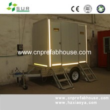 Cheapest Prefab Portable Container Booth Kiosk Shop Trailer Type Integrate Public Toilet