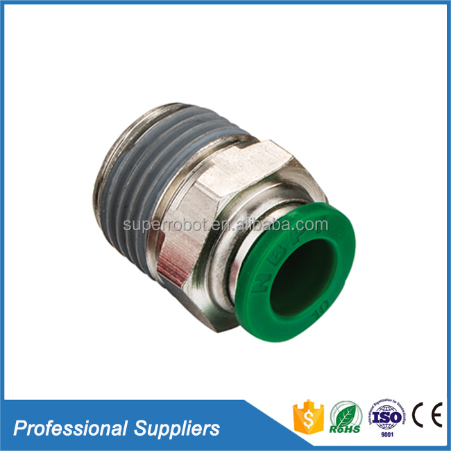 PC male straight 8mm tube fitting one-touch connecting air conditioner copper pipe fitting