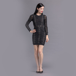 Hot sale high quality wholesale evening dress long sleeve elegant