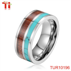 7mm protect sleeping resin inlay ring men with purple resin inlay the ridge