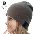 Bluetooth Music Hat, Knit Winter Warm Beanie Built-in Removable Bluetooth Stereo Headphone & Microphone for Hands-Free