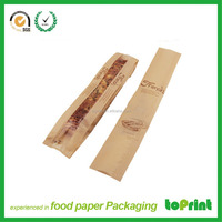 bread packaging bag kraft paper bag with custom printing