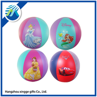 Inflatable Cartoon Kids PVC Beach Ball With Logo Printing