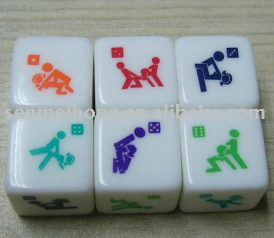Promotion lovers'/sex arcylic dice