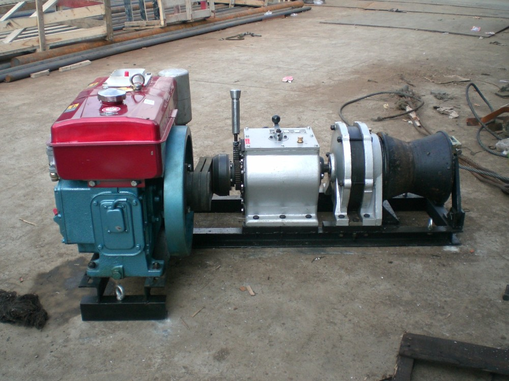 5 Ton Diesel Engine Powered Cable Puller Winch Buy Cable