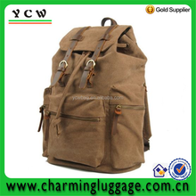 Unisex Canvas Hiking Camping Military School Laptop Bag Backpack