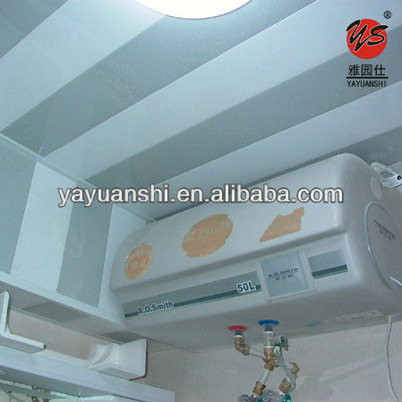 waterproof decorative plastic pvc ceilings for bathroom decor