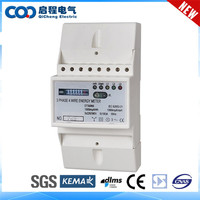 Din Rail Three Phase Energy Meter Connection