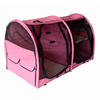 Pink Double Folding Pet Crate with Hammock
