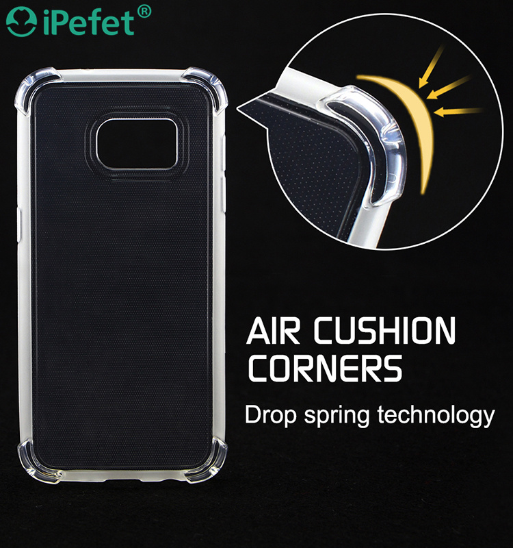 Wholesale Mobile Phone Cover Soft Clear TPU Shockproof Air Cushion Bumper Case For iPhone 6,For Huawei P9 Lite