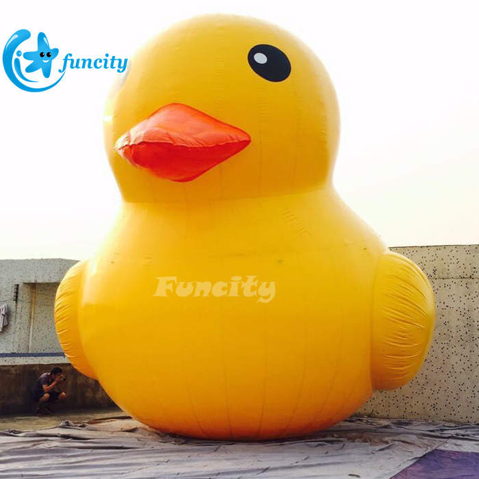 Commercial used yellow inflatable rubber duck,giant inflatable floating yellow duck for advertising