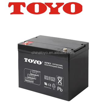 hot sell solar inverters battery 12v 75ah
