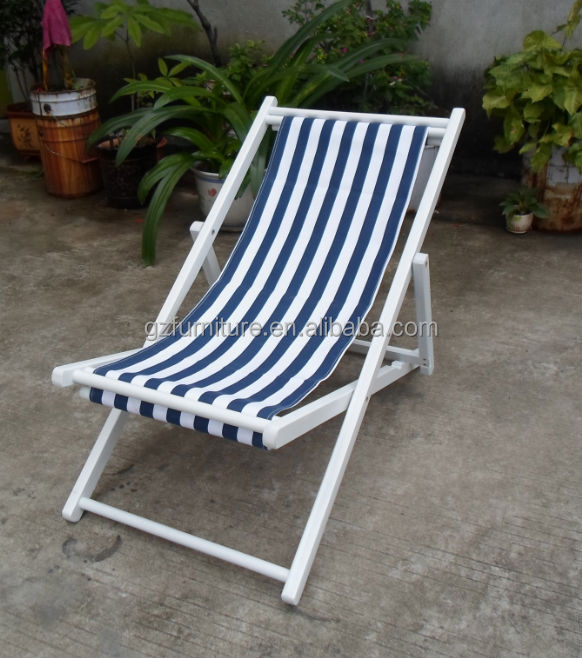 Jianglin foldable wood canvas deck chair with high quality