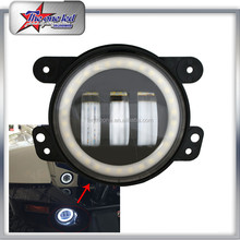 "Hot Selling 4 Inch 30W LED Fog Light for Jeep Wrangler,4"" Fog Lamp with Halo Ring"
