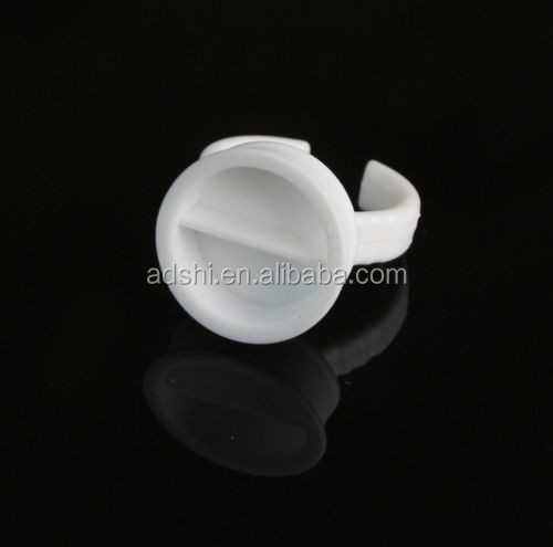 Permanent Makeup Tattoo Ink Cups Disposable Soft Rubber White