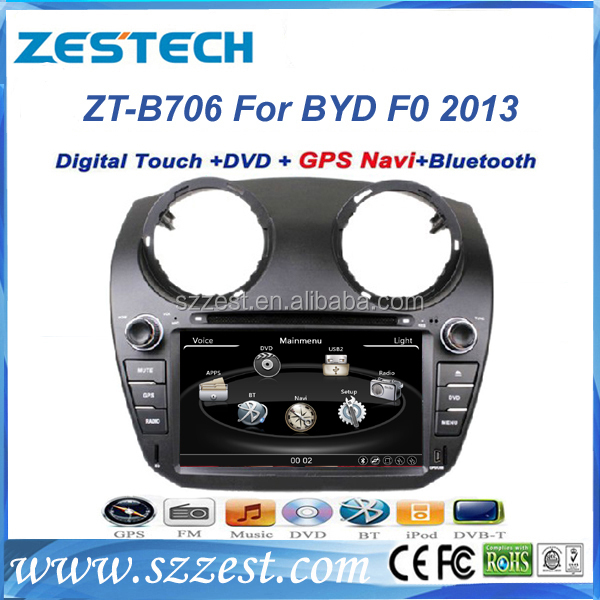 For BYD F0 MP5 2013 touch screen car radio with gps