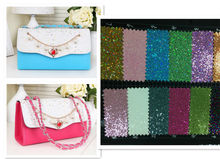 2014 hot sale PU glitter leather for bag