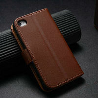fancy unique original business leather book case for apple iphone 4 4g