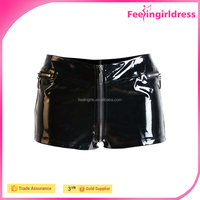 Hot Sale Short Sexy Black Wholesale High Quality Fast Shipping Leather PVC Pants