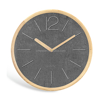 simple wooden fashion dial 12 inch wall clock