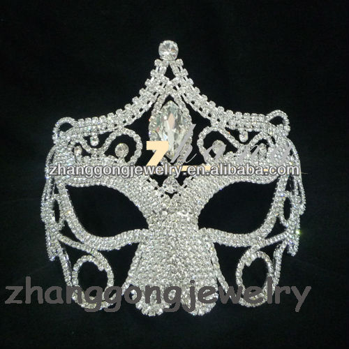 Yiwu beauty rhinestone pageant mask