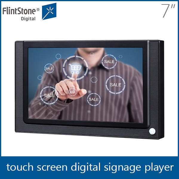 FlintStone 7 inch Remote Control Waterproof Indoor Text Graphics Video Advertising Screen