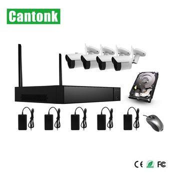new h.265 4ch 1080p camera wifi kits wifi range 300m