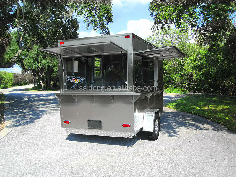 Hot food vending cart coffee cart trailer mobile catering - Remorque cuisine mobile ...