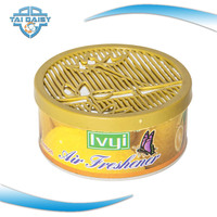 OEM gel plastic container sandalwood air freshener