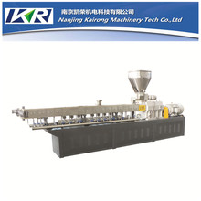 Twin Screw Extruder Machine To Recycle Plastic Water Bottle Complete Wood Pellet Line Granules Manufacturing Process