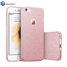3 in 1 pc tpu bling bling glitter paper cell phone case cover for apple iphone 7 i phone 6 6s 7 plus cases for girls