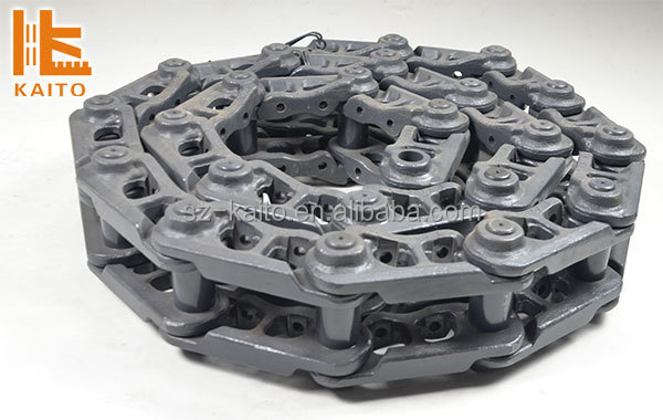 Wirtgen road milling track chain with rubber track pad