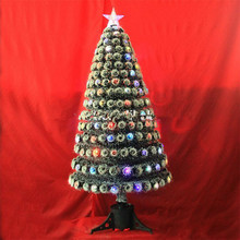 Cheap 3' Small Artificial Holiday Outdoor Fiber Optic Light Up Christmas Tree