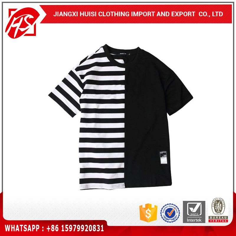 European and American fashion stripe t shirt wholesale rock band t-shirts