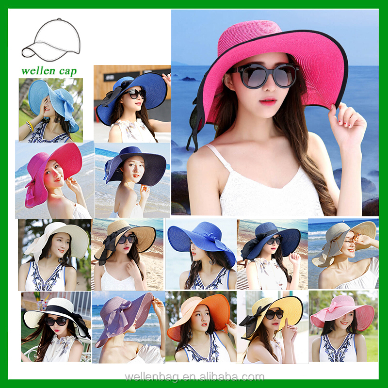 Hot design high quality panama 100% paper straw hat with band cheap wholesale straw hats