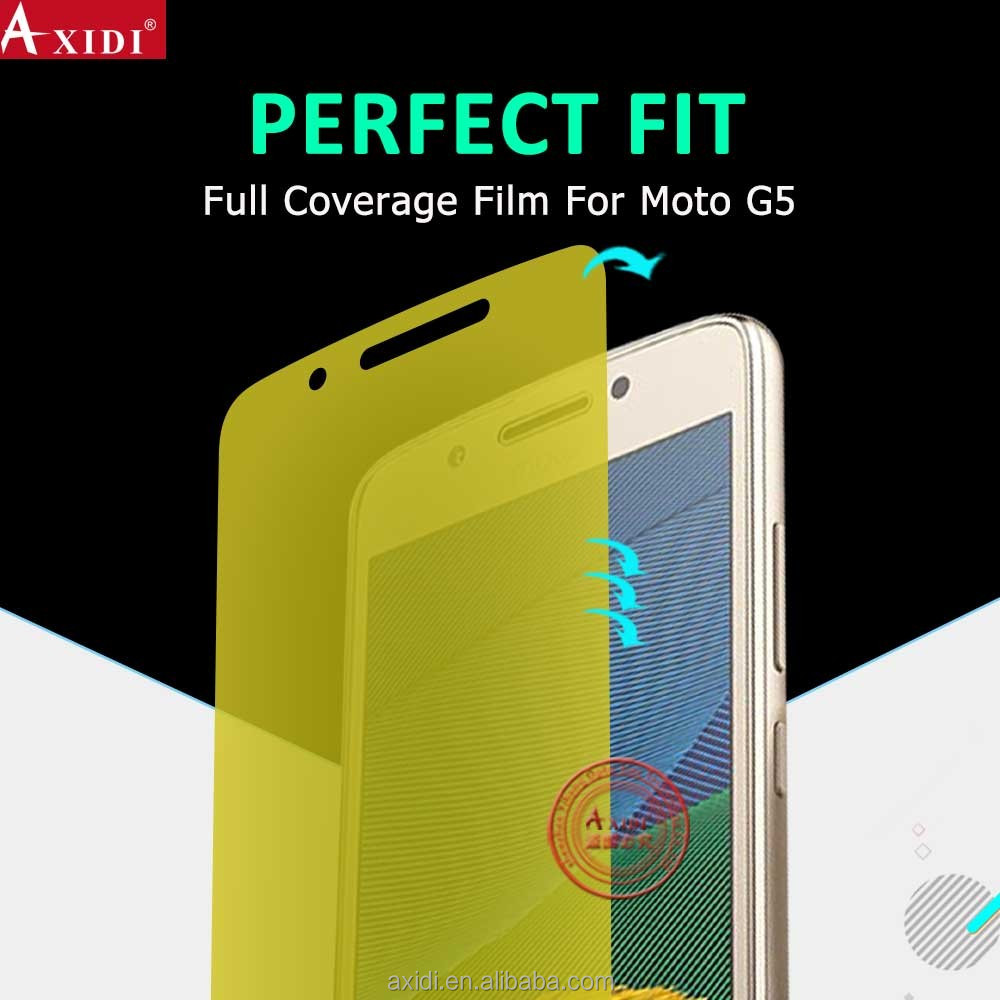 Top Sales ultra clear yellow tpu screen protector for moto G5