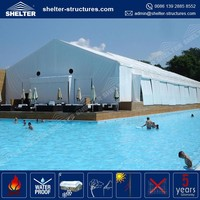 Beijing Roof cover 850g/sqm PVC coated fabric UV-resistant swimming pool cover tent