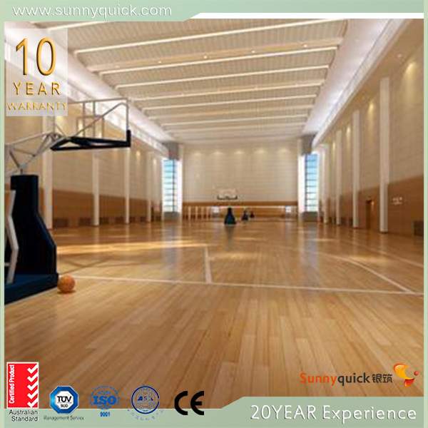 grey oak wood flooring/ basket court floor