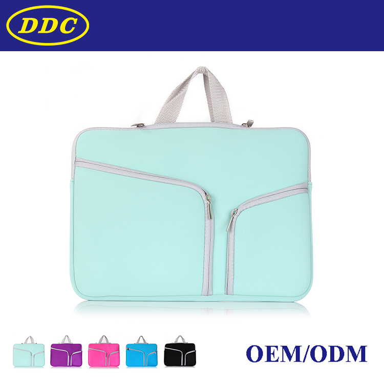 Newest Neoprene fabric briefcase case for Macbook laptop