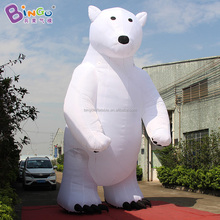 Christmas decoration tyep 6m high inflatable polar bear for sale