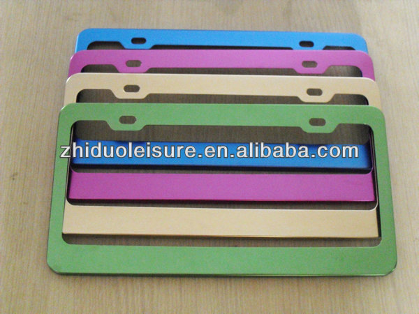 aluminum alloy colourful license plate frame