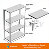 Dismountable and light goods storage perforated metal shelving
