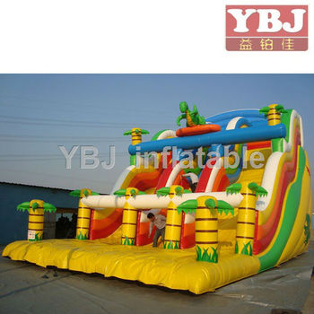 Beautiful design double tunnel Inflatable slide party rental product