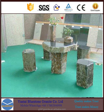 Dining Table Top Set garden basalt table&chairs and black basalt lava flooring tiles