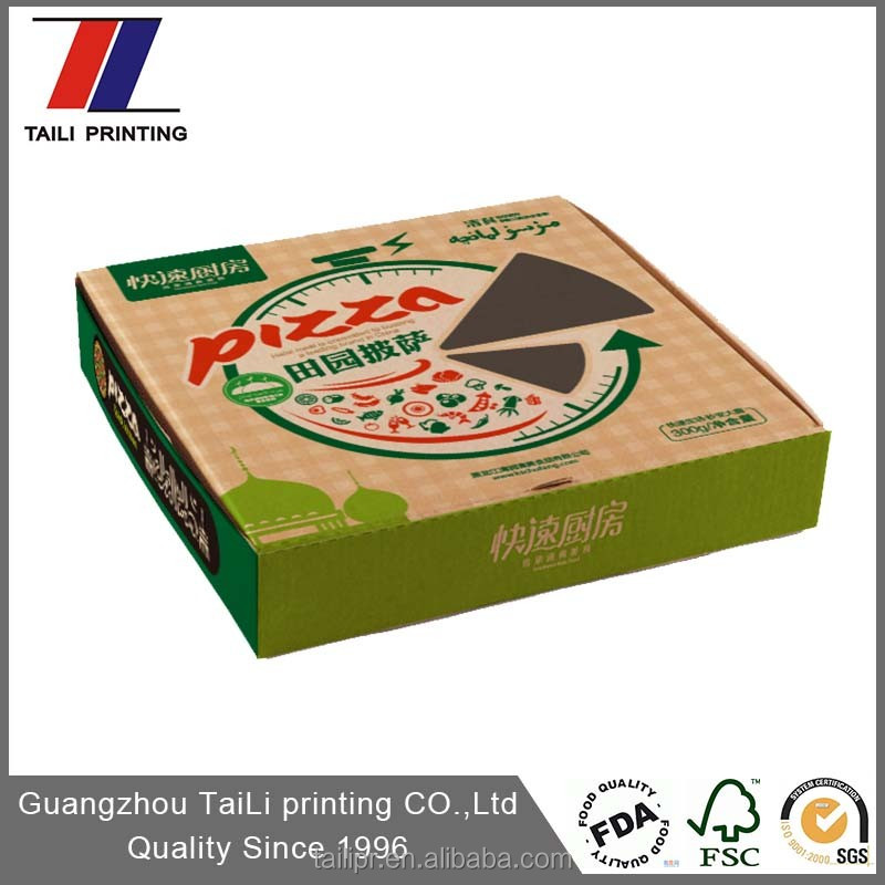 custom printed pizza slice box/7 inch pizza boxes wholesale