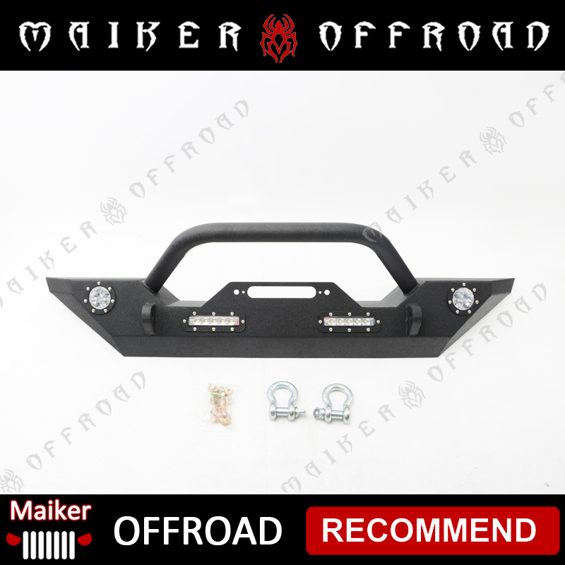 front bumper with led light for Jeep Wrangler 4x4 front bumper accessories