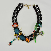 high good quality trendy fashion casual personality popular jewelry handmade metal fabric necklace women garment accessories