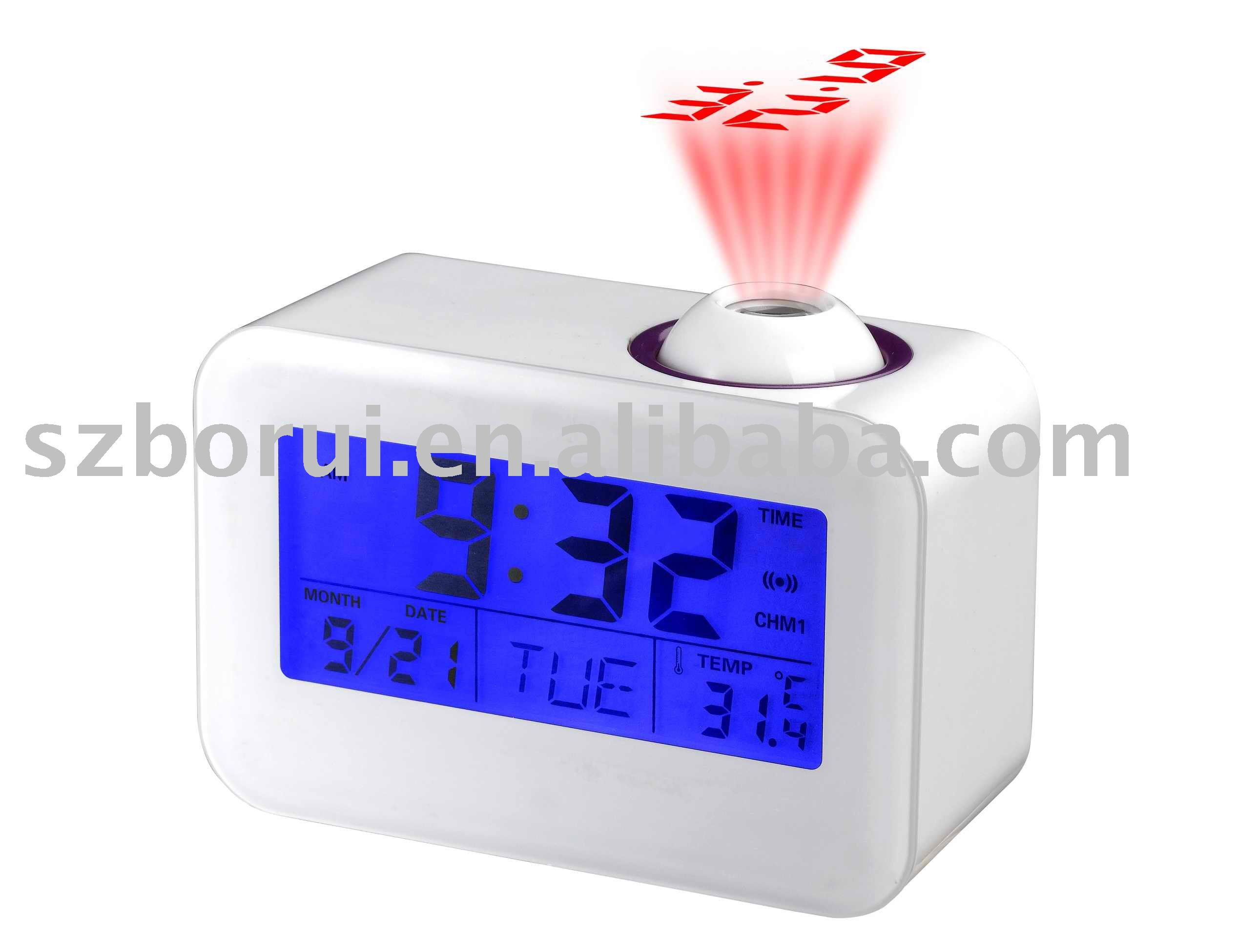 LCD talking projection Clock